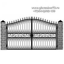 Кованые ворота КВ-107