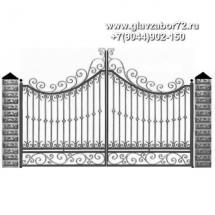 Кованые ворота КВ-108