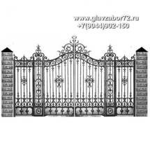 Кованые ворота КВ-119
