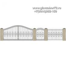 Забор плюс ворота ЗВ-26