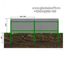 Забор из профнастила ЗП-1