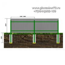 Забор из профнастила ЗП-2