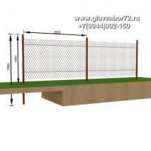 Забор из сетки рабицы ЗСР-1