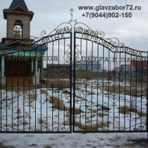 Кованые ворота пос. Яр г.Тюмень