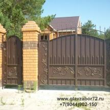 Кованые ворота 1 пос Карагандинский, г.Тюмень