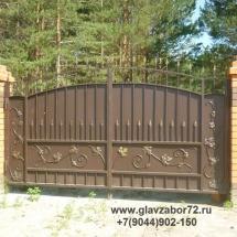 Кованые ворота 2 пос Карагандинский, г.Тюмень