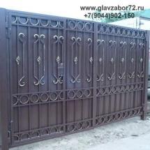 Кованые ворота с калиткой Тюмень ул.Хохлова