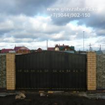 Кованые ворота 3 пос Черная речка, Тюмень