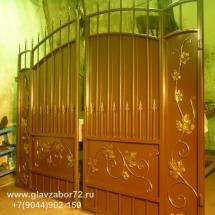 Кованые ворота г.Тюмень( с виноградной лозой)
