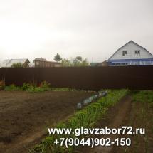 Забор из профнастила пос.Плеханово