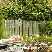 Забор из металлоштакетника без планки Боровое