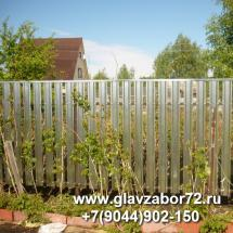 Забор из металлоштакетника с планкой Боровое