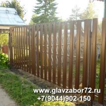 Ворота из металлоштакетника с\о Ромашка