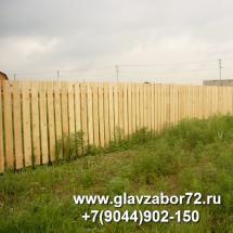 Забор деревянный поселок Якуши, Тюмень