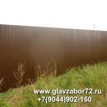 Забор из профнастила поселок Якуши