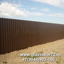 Забор из профнаслита днт Серебрянный бор