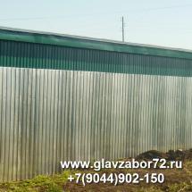 Забор из профнастила пос. Гилево(оцинкованный), Тюмень