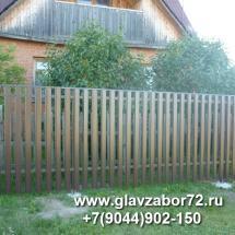 Забор из металлоштакетника пос. Гилево, Тюмень