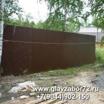 Забор из профнастила пос.Метелево(Тюмень)