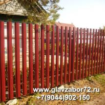 Забор из металлоштакетник с\о Строитель3