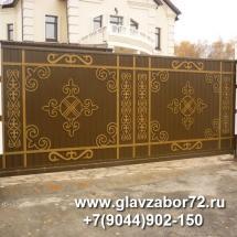 Ворота откатные с плазменной резкой Патрушево(Тюмень)