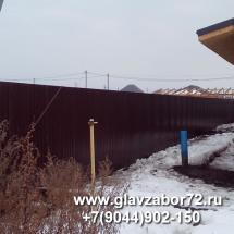 Забор из профнастила Новотарманск (Тюмень)