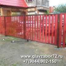 Ворота из металлоштакетника с\о Патрушего(Тюмень)