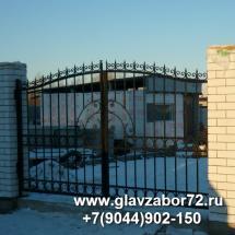 Ворота сварные с коваными элементами пос Светлый(Тюмень)