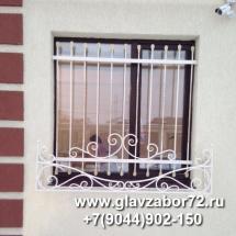 Кованые решетки на окна с цветочницами, Цимлянское, Тюмень