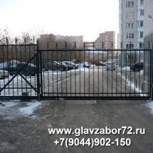 Ворота сварные откатные Тюмень ул.Чернышовского