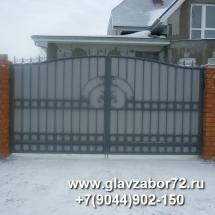 Сварные ворота с коваными элементами. пос Богандинский