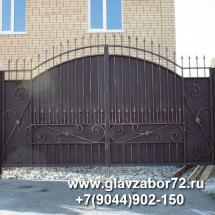 Кованые ворота,пос Метелево,Тюмень