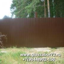 Забор из профнастила Тюмень, СНТ Березка-4