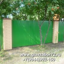 Забор из профнастила двухстороний с пикс-панелями, Тюмень, СНТ Речник