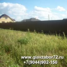 Забор из профнастила Луговое-2,Тюмень-2015
