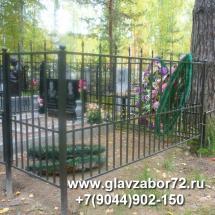 Оградка сварная ритуальная,Тюмень, Червишевское кладбище