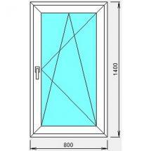 №2 - Окно пластиковое(одностворчатое)