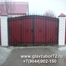 Кованые ворота с калиткой, Тюмень, ул. Доронина