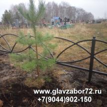 Оградка ритуальная, Криводаново, Тюмень 2015