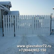 Ворота с деревянным штакетником, Комарова, Тюмень