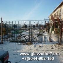 Ворота сварные детский садик с.Целинное, Курган