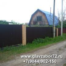 Забор из профнастила с Пикс-панелями, Тюмень СНТ ИСКРА-1