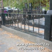 Оградка кованая Кладбище Червишевское 2