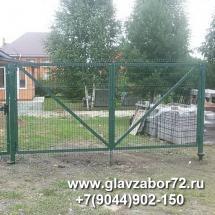 Ворота распашные, сварные с 3-дэ панелями в Тюмени, Цимлянское
