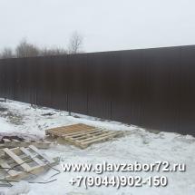 Забор из профнастила Березняки, Мальковская, Тюмень