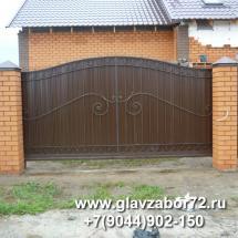 Ворота сварные,откатные с коваными элементами Новатарманск, Тюмень