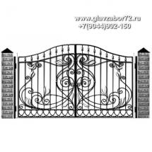 Кованые ворота КВ-101