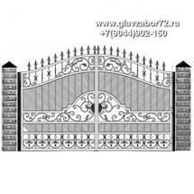 Кованые ворота КВ-103