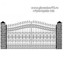 Кованые ворота КВ-114
