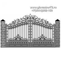 Кованые ворота КВ-117